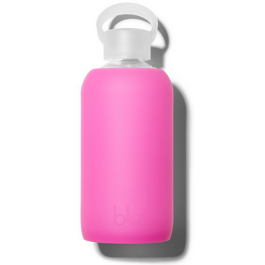 bkr Baby Glass Water Bottle Sheer Fuchsia