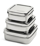 DALCINI Stainless Steel Square Containers