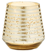 Illume Small Etched Gold Candle Winter White