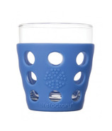 Lifefactory Small Beverage Glass Cobalt