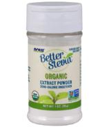 NOW Better Poudre d'extrait de Stevia biologique