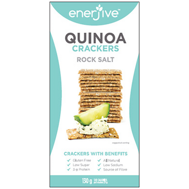 Enerjive Quinoa Crackers Rock Salt