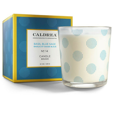 Caldrea Candle Basil Blue Sage
