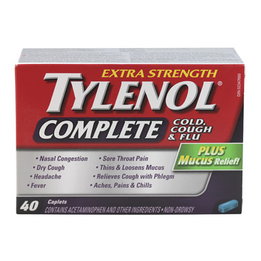 Tylenol Complete Extra Strength Cold, Cough & Flu Caplets