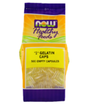 "NOW Foods Empty Gelatin Capsules ""1"""