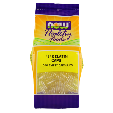 "NOW Foods Empty Gelatin Capsules ""1\"""