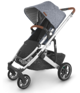 UPPAbaby CRUZ V2 Stroller Gregory Blue Melange Silver Saddle Leather