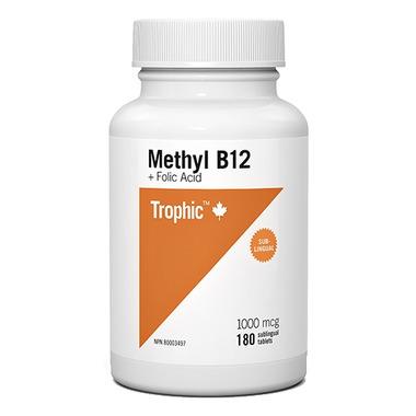 Trophic Methyl B12 Sublingual with Folic Acid