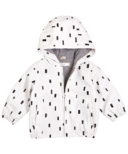 Miles Baby White Light Weight Play Block Rain Bomber Jacket 12M-24M