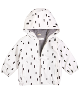 Miles Baby White Light Weight Play Block Rain Bomber Jacket 2Y-4Y
