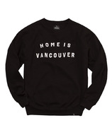Peace Collective Home is Vancouver Crewneck Black