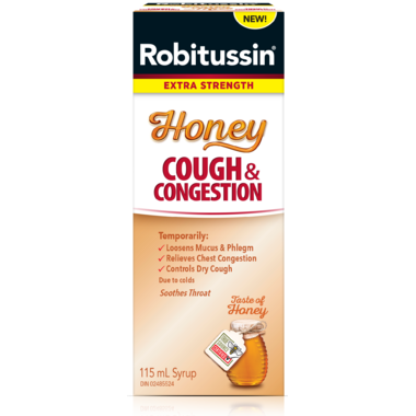 Robitussin Extra Strength Honey Cough & Congestion 115ml