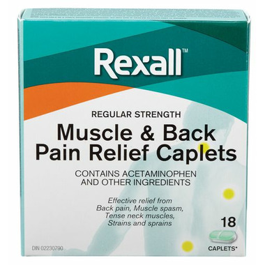 Rexall Muscle And Back Pain Relief