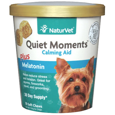 Naturvet Quiet Moments Plus Melatonin Soft Chews