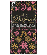 Divine Chocolate Fair Trade Dark Chocolate with Pink Himalayan Salt