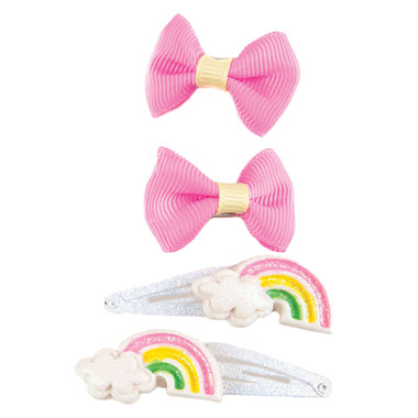 Great Pretenders Snap Happy Rain-Bow Clips