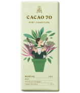 Cacao 70 Mint Condition Dark Chocolate with Mint Leaves