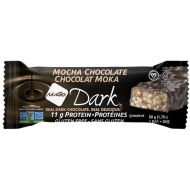 NuGo Dark Mocha Chocolate Protein Bar Case