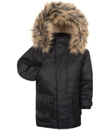 Appaman Denali Down Coat Black Herringbone