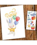 PiCO Temporary Tattoos Party Card & Tattoos