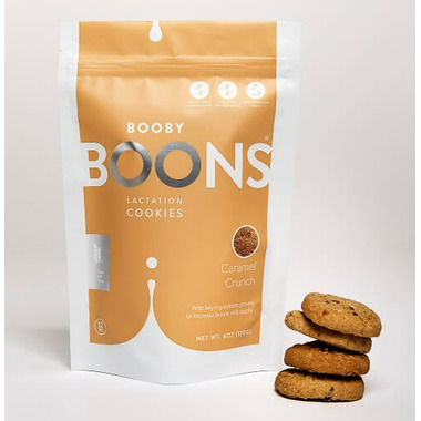Stork and Dove Booby Boons Lactation Cookies Caramel Crunch