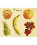 EduShape Large Knob Wooden Puzzle Fruits