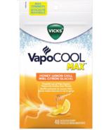 Vicks VapoCOOL MAX Medicated Cough Drops Honey Lemon Chill