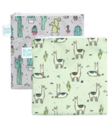 Bumkins Reusable Snack Bag Large Cacti & Llama