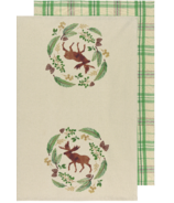 Now Designs Dishtowels Set Winter Moose