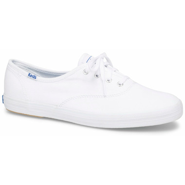 Keds Big Kids Champion White Canvas