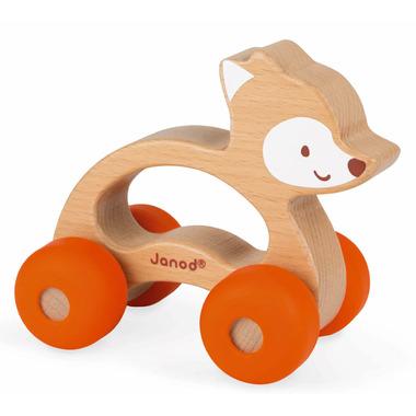 Janod Baby Pop Push Along Fox