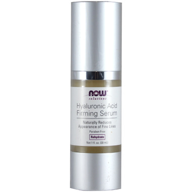 Now Foods, Solutions, Hyaluronic Acid Firming Serum, 1 fl oz(pack of 3) Camellia Nut Facial Hydrating Cream 2.01oz