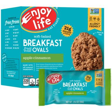 Enjoy Life Soft Baked Breakfast Ovals Apple Cinnamon