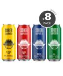 Sober Carpenter Non-Alcoholic Craft Beer Variety 8 Pack Bundle