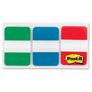 Post-it Filing Tabs Red, Green & Blue