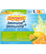 Emergen-C Immune+ Vitamin C & Mineral Supplement Fizzy Drink Mix Citrus