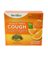 Herbion Sugar Free Orange Cough Lozenges