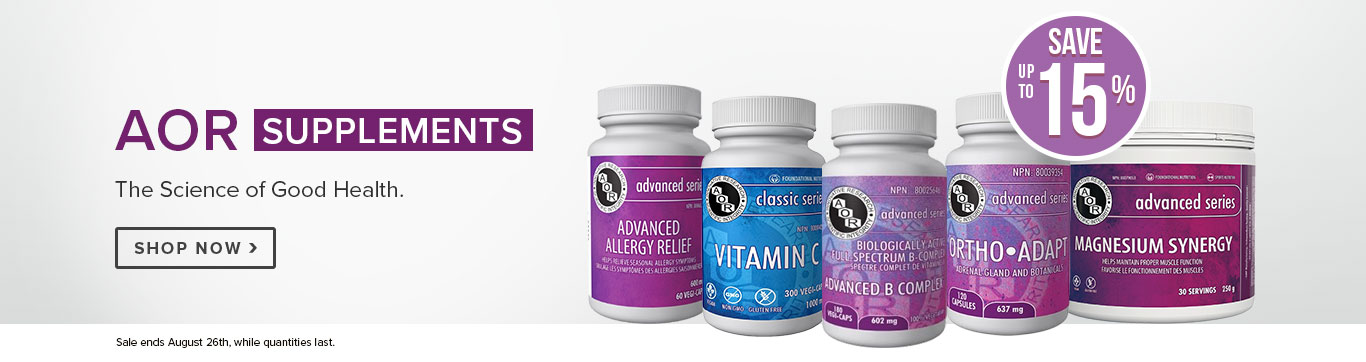 Save up to 15% on AOR Vitamins