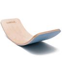 Wobbel Balance Board Transparent Lacquer & Sky Blue EKO Felt