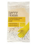 Savvy Home Household Flocklined Rubber Gloves Medium/Large