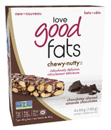 Love Good Fats Chocolatey Almond Chewy Nutty Bars