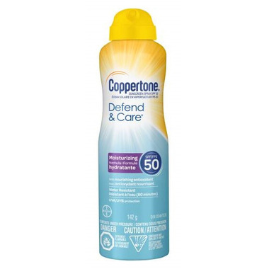 Coppertone Defend & Care Sunscreen Spray Nourishing Antioxident SPF 50