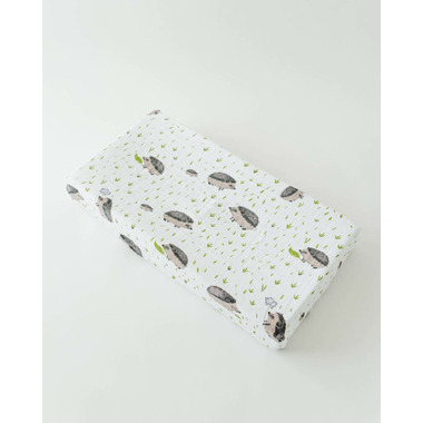 Little Unicorn Cotton Muslin Changing Pad Cover Hedgehog