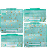 Russbe Reusable Snack/Sandwich Bags Metallic Polka Dot