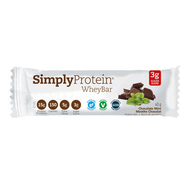 Simply Protein Whey Bars Chocolate Mint Case