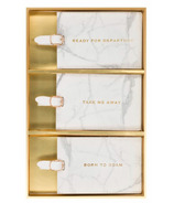Eccolo Luggage Tag Set of 3 Marble