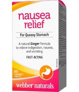 Webber Naturals Organic Ginger Clinical Strength 500 mg