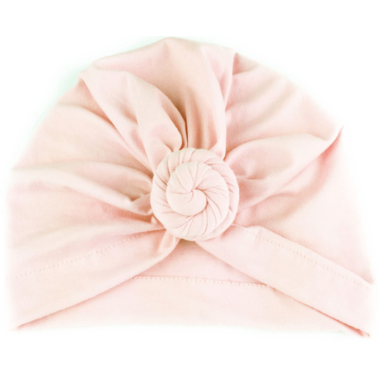 Baby Wisp Bohemian Knot Hat Soft Pink