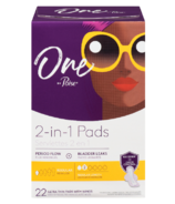 One by Poise Feminine Pads 2-in-1 Period & Bladder Leakage Pad Regular
