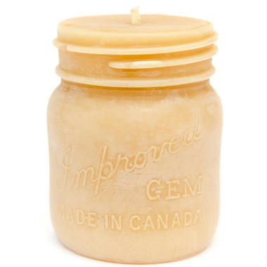 Bees Wax Worlds Mason Jar Beeswax Candle